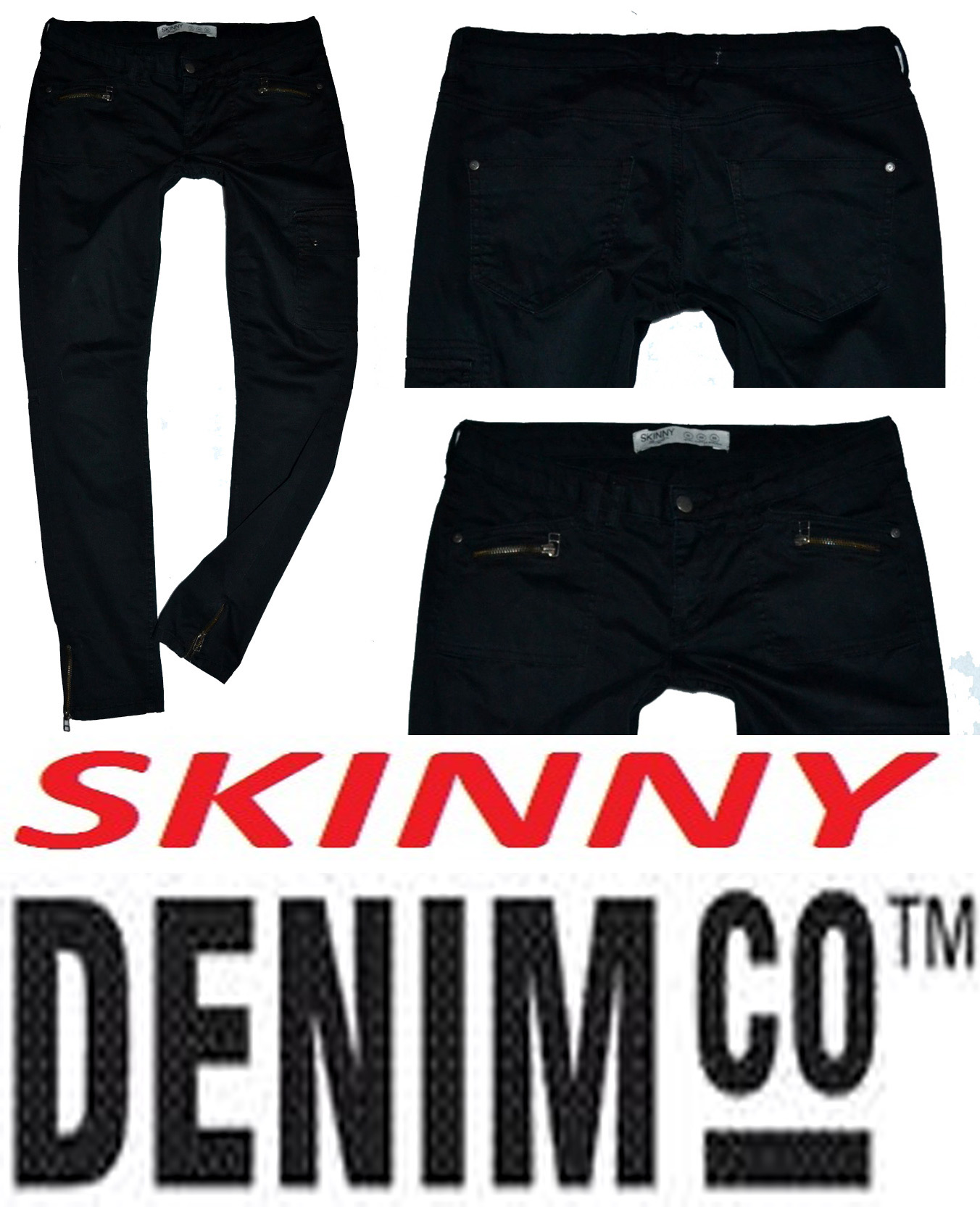 Džíny s elastanem zn. DENIM CO SKINNY vel. 40(12)