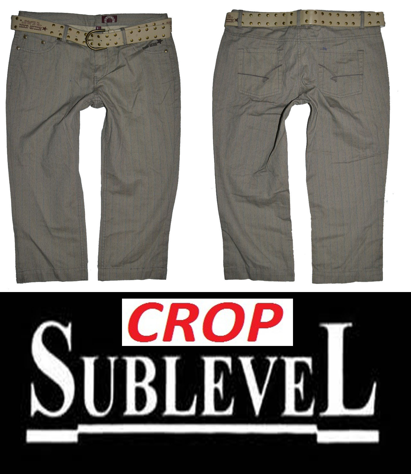 3/4 kraťasy zn. SUBLEVEL CROP vel. L (38-40)